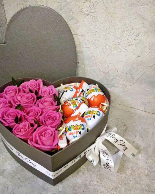 сердце с цветами и конфетами Брест _1