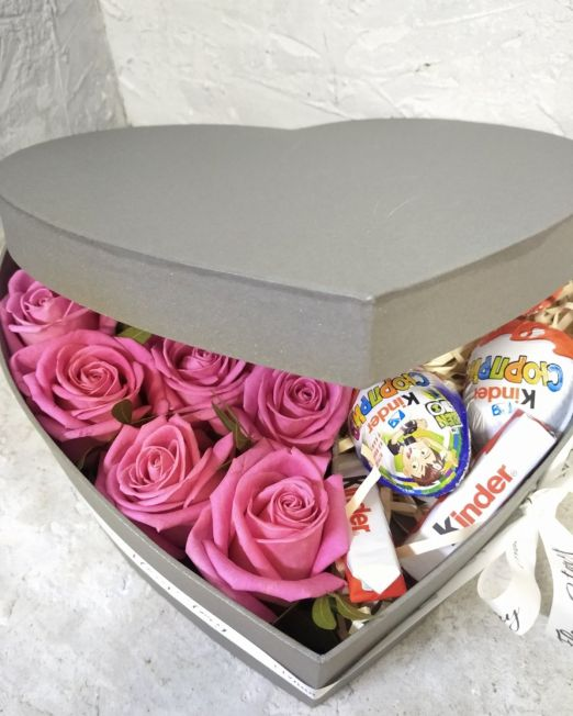 сердце с цветами и конфетами Брест _2