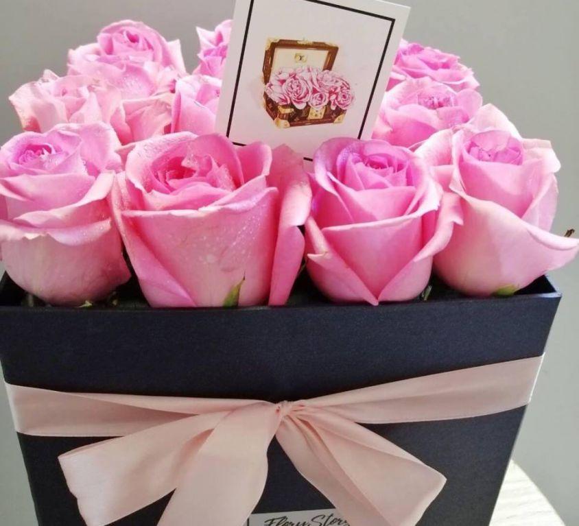Розы в квадратной коробке 306