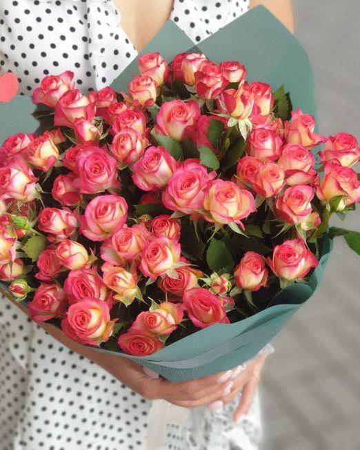 букет из кустовой розы саммер дэнс