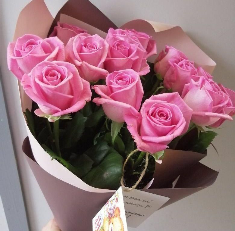 Букет из 15 розовых роз 201