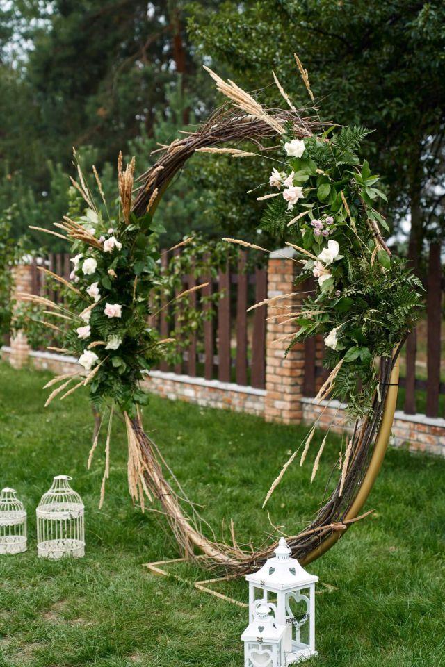свадебный декор арка круглая кольцо для выездной регистрации церемонии ночная фотосессия _2 (1)