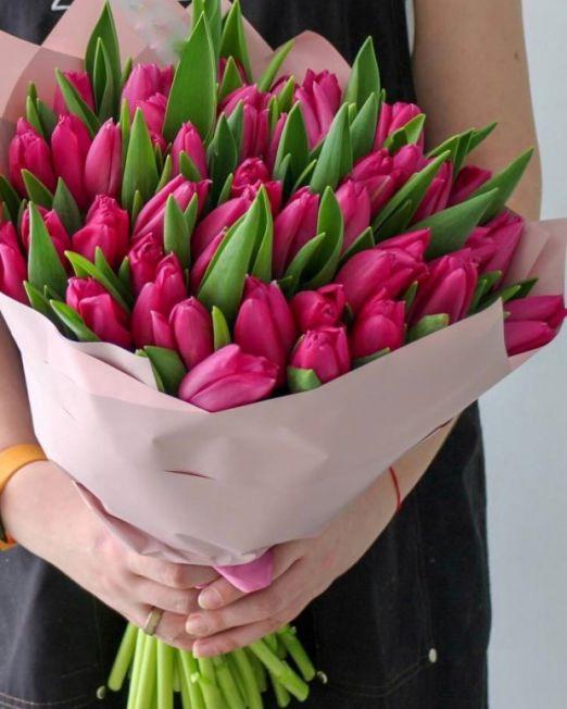 Букет сборный из 45 тюльпанов 246