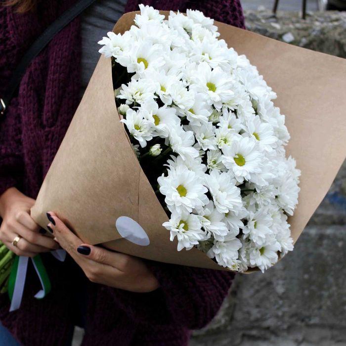 Букет сборный из хризантем ромашка 207