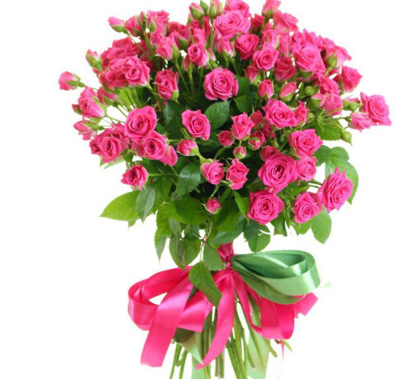 Букет сборный из кустовых роз 117