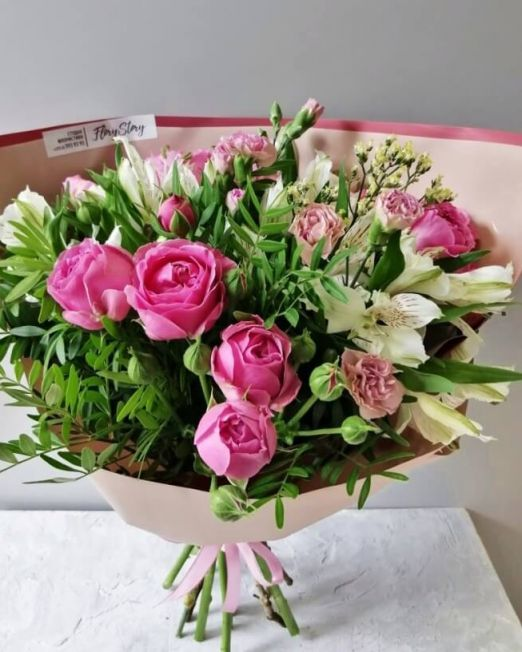 букет сборный с пионовидной розой (1)