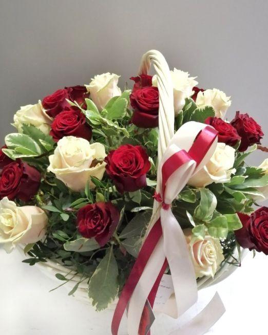 корзина с розами брест -1