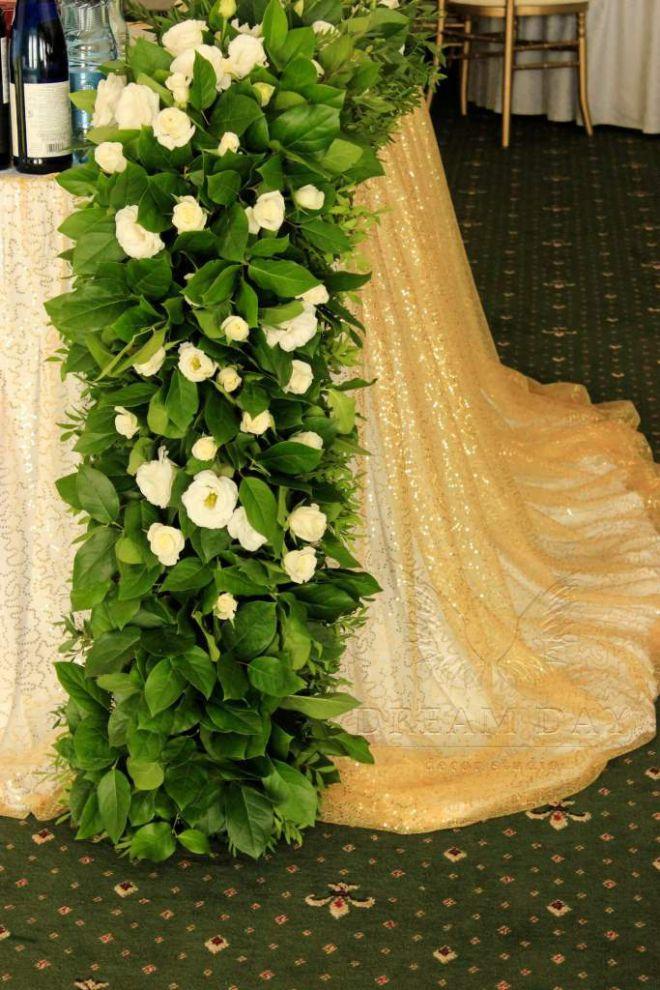 свадебное оформление живыми цветами брест 3