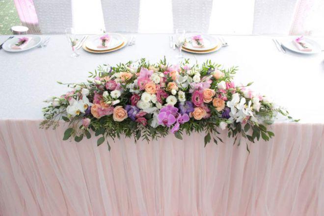 свадебное оформление живыми цветами брест 34