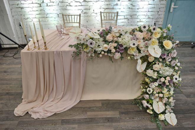 свадебное оформление живыми цветами брест 6