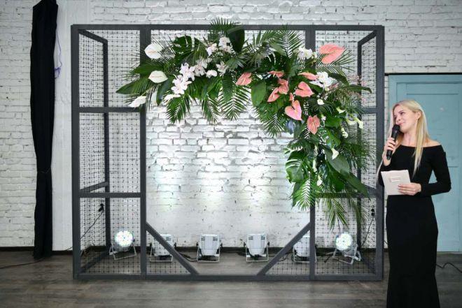свадебное оформление живыми цветами брест 7