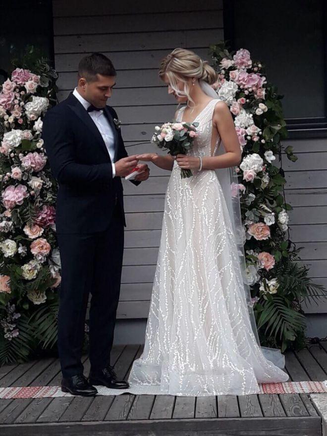 свадебное оформление живыми цветами брест 8