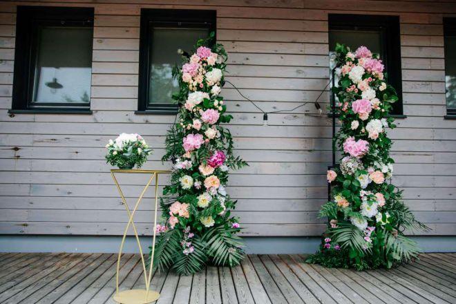 свадебное оформление живыми цветами брест 9
