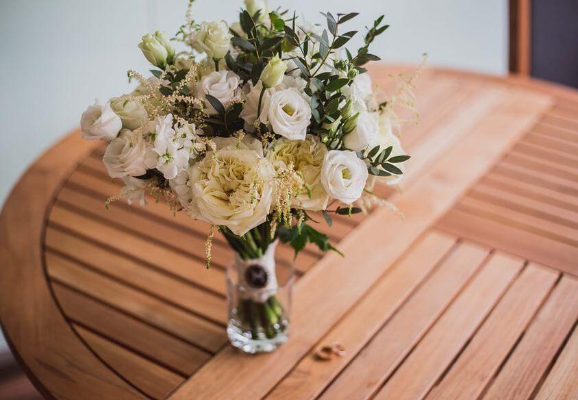 Свадебный букет невесты с пионовидной розой — 702
