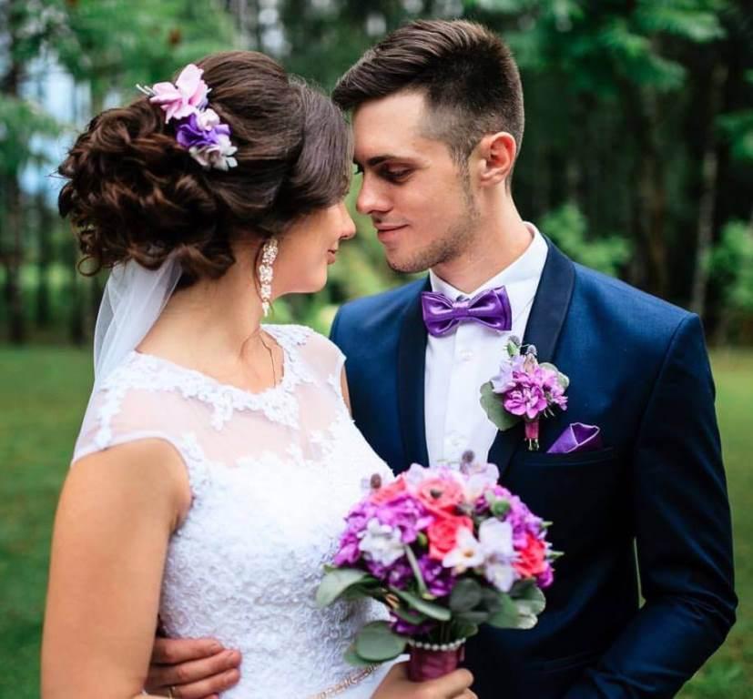 Свадебный букет невесты из диантуса, фрезии 709