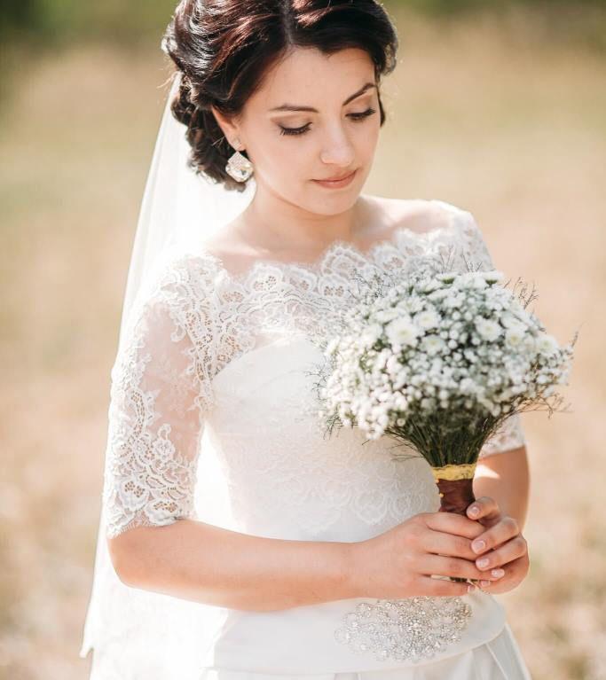 Свадебный букет невесты в рустикальном стиле — 713