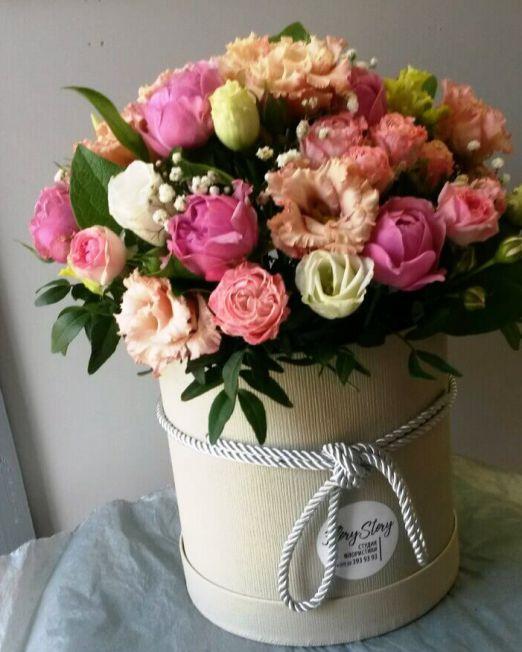 шляпная коробка с цветами брест
