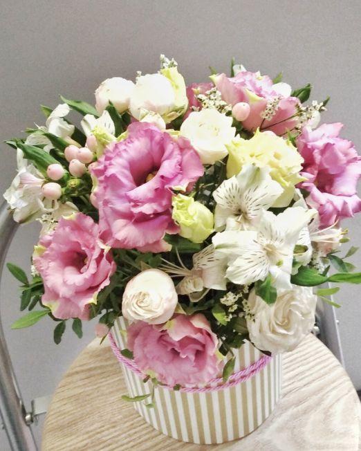 шляпная коробка с цветами брест1