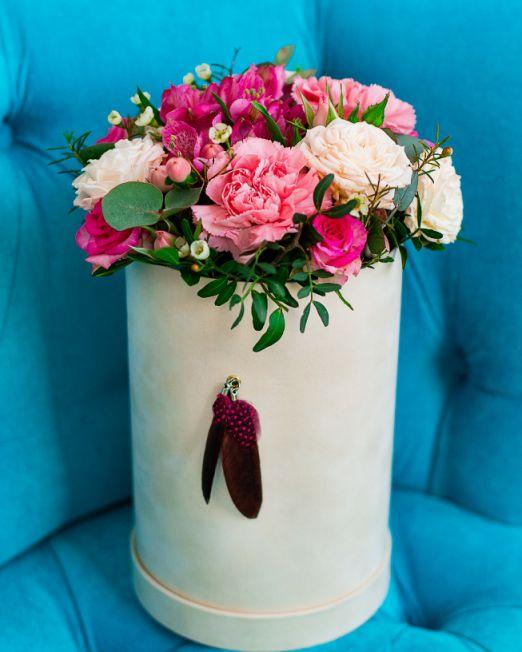 шляпная коробка с цветами _2