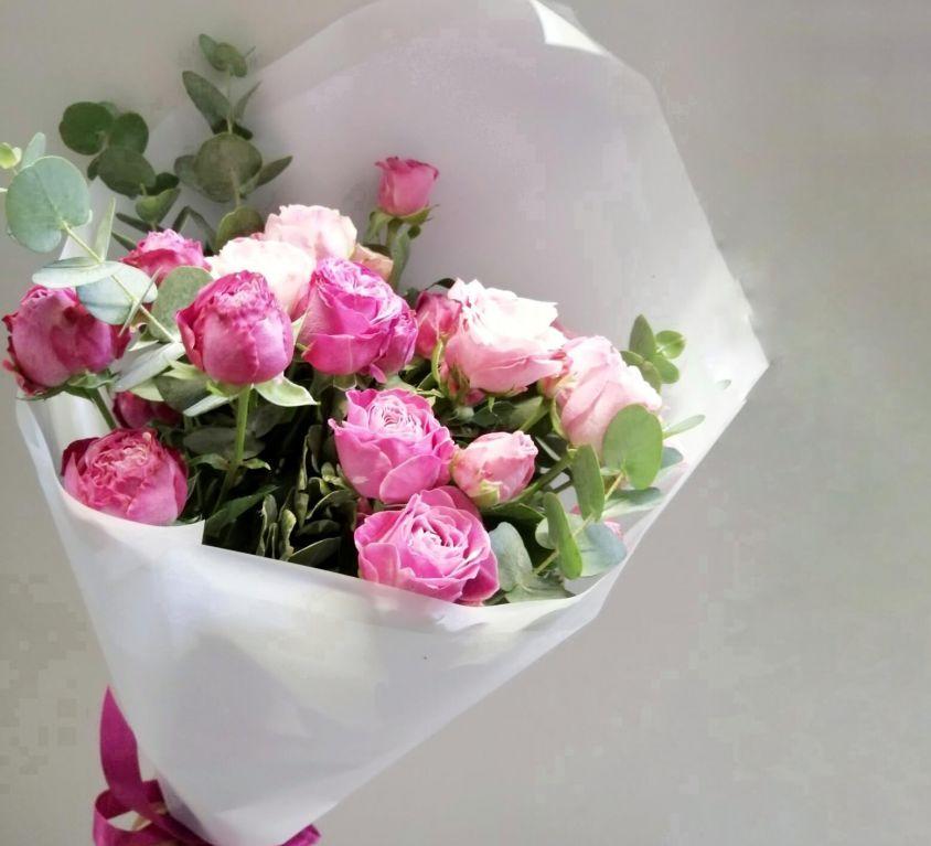 Букет с пионовидной розой 349