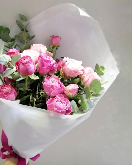 букет из пионовидной розы -3