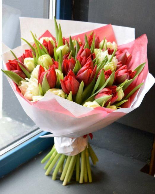 букет из тюльпанов брест -7