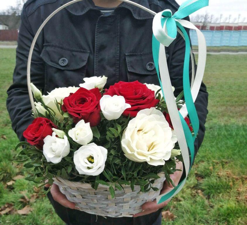 Корзина с цветами 363