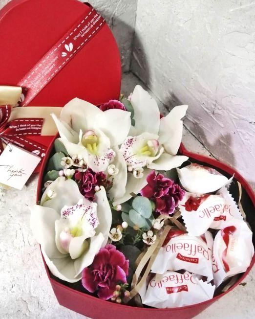 сердце с орхидеей и конфетами2 (2)