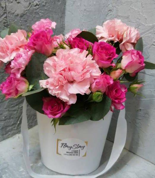 цветы в коробке-сумочке_1