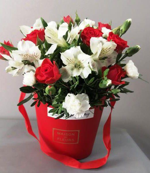 цветы в коробке-сумочке_2