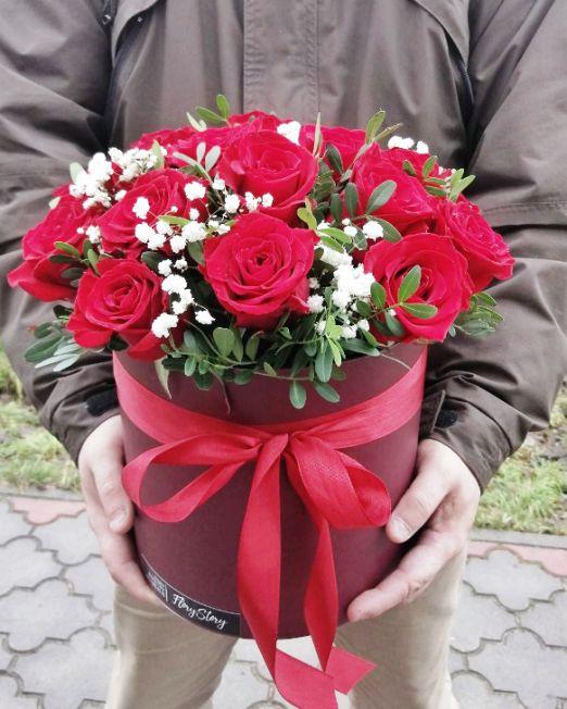 шляпная коробка розами (6)