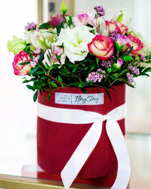 шляпная коробка цветами (4)