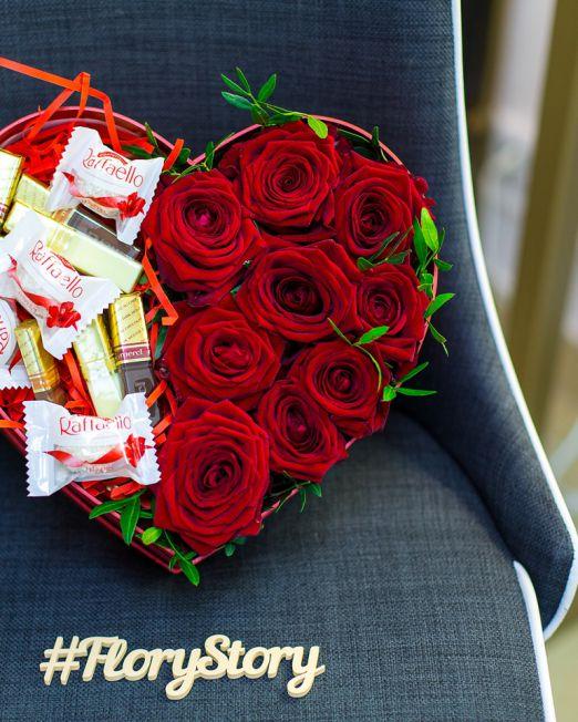 сердце с красными розами 1