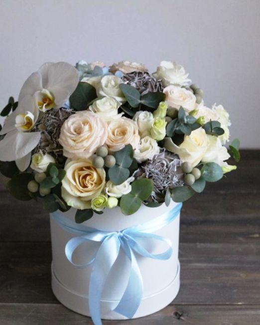 шляпная коробка с орхидеей 1