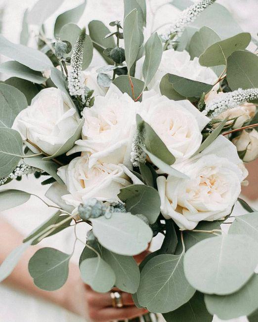 букет из пионовидной розы вайт охара2