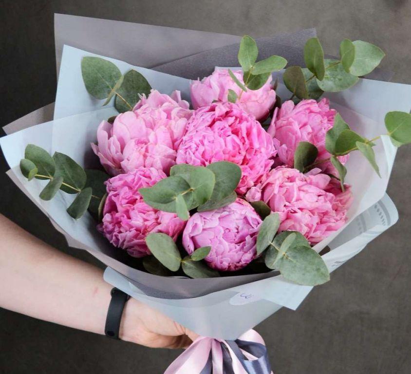 Букет из розовых пионов 316