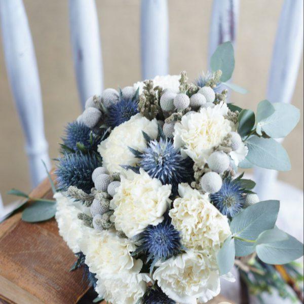Свадебный букет невесты в голубых тонах — 721