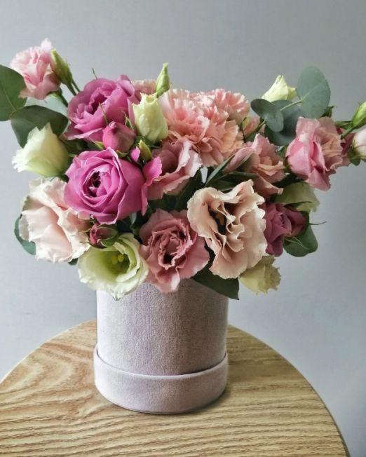 бархатная коробка с цветами _1