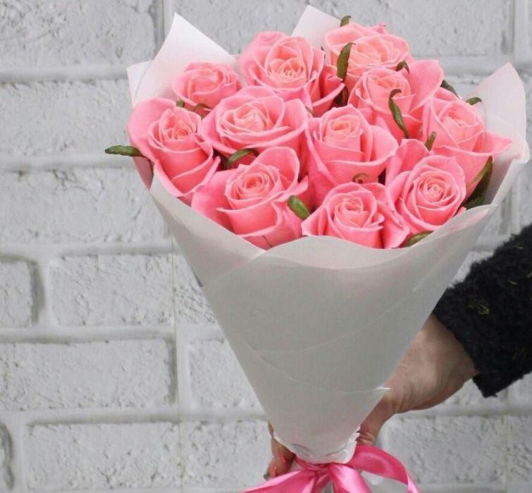Букет из 11 розовых роз 515