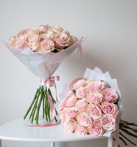 букет из 25 роз пинк мондиаль