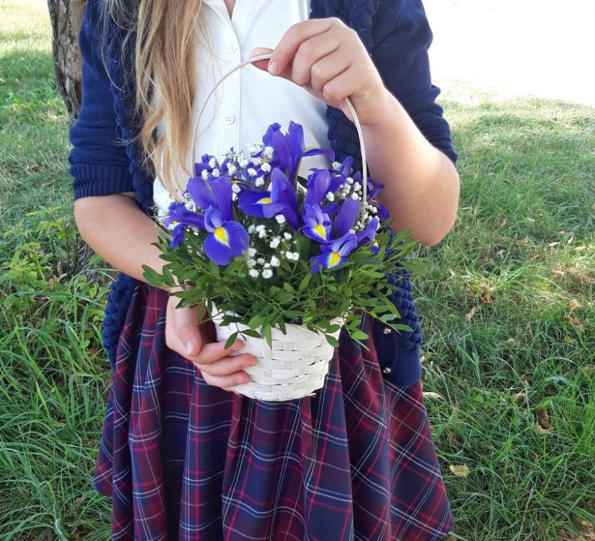 Корзинка с цветами 445
