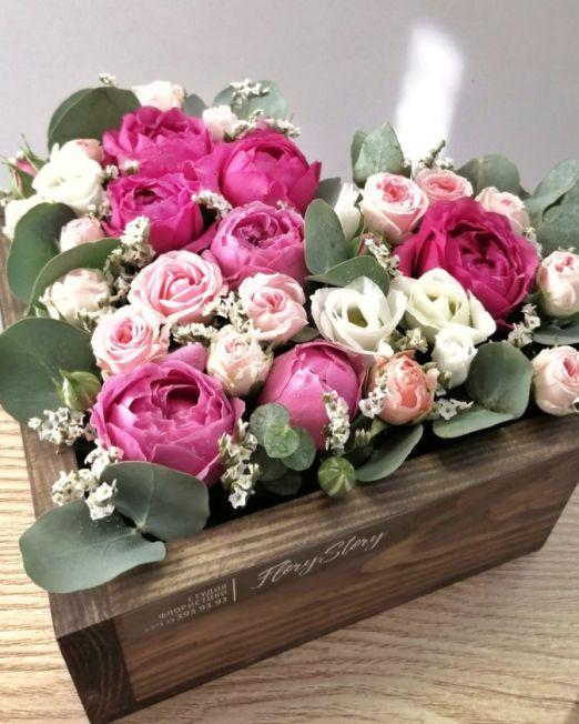 серде деревянное с цветами_