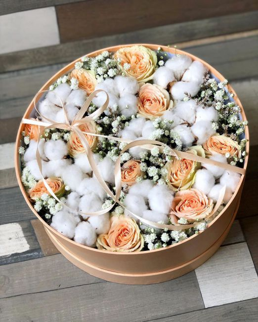 шляпная коробка сс цветами
