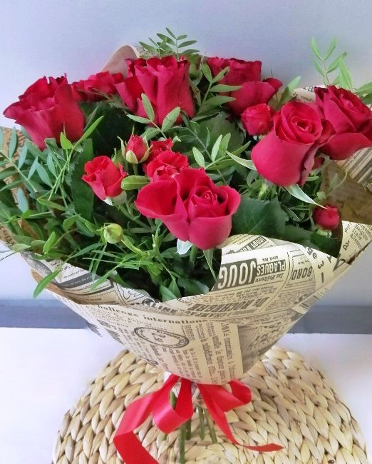 букет из красной розы