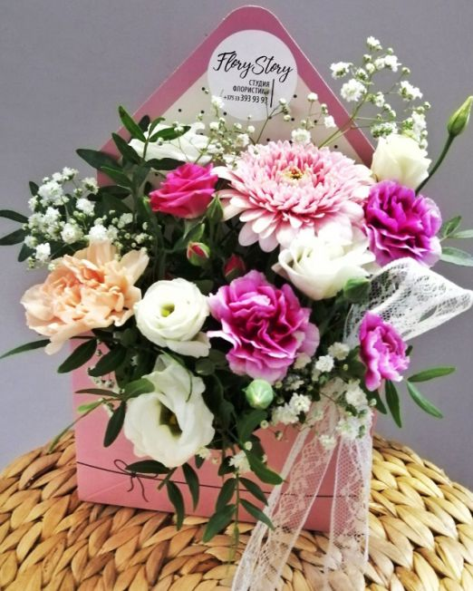 конверт с цветами