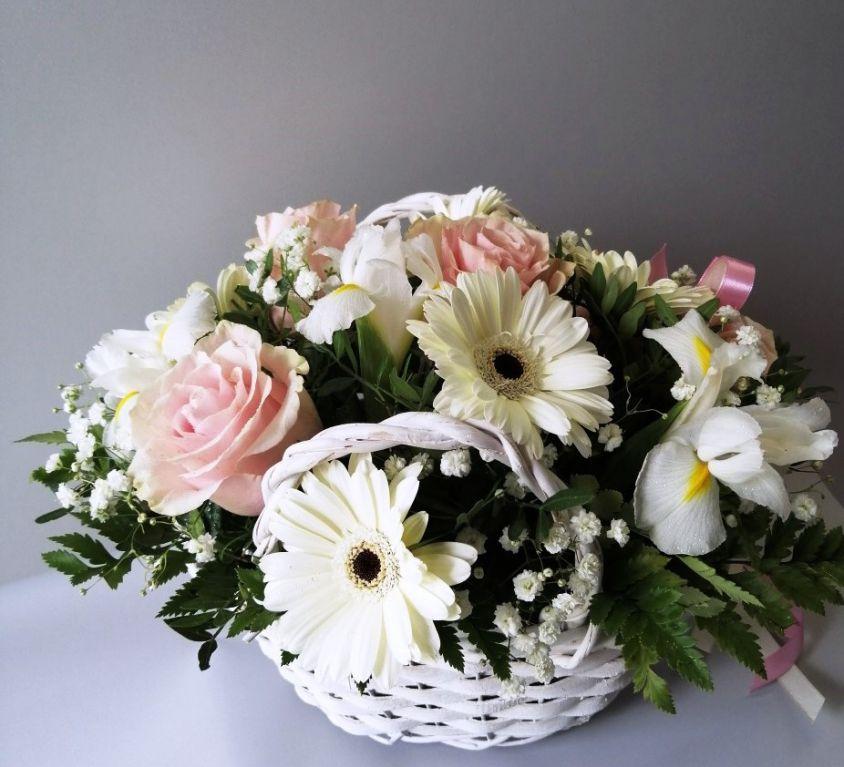 Корзина с цветами 524
