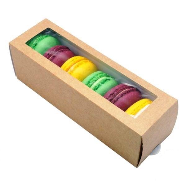 Коробка печенья макаронс 5 штук 005