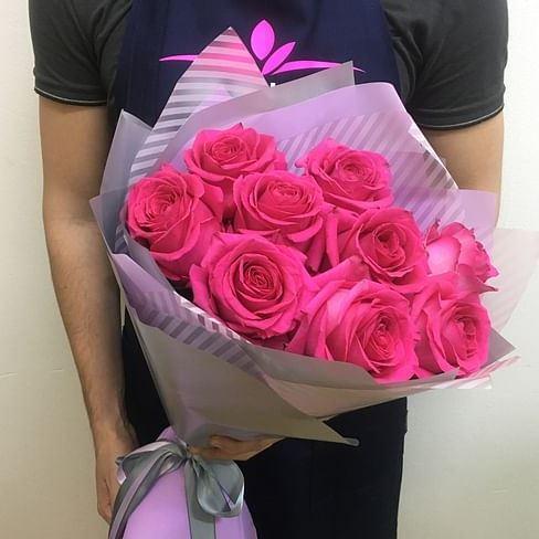 букет из 11 розовых роз пинк флойд