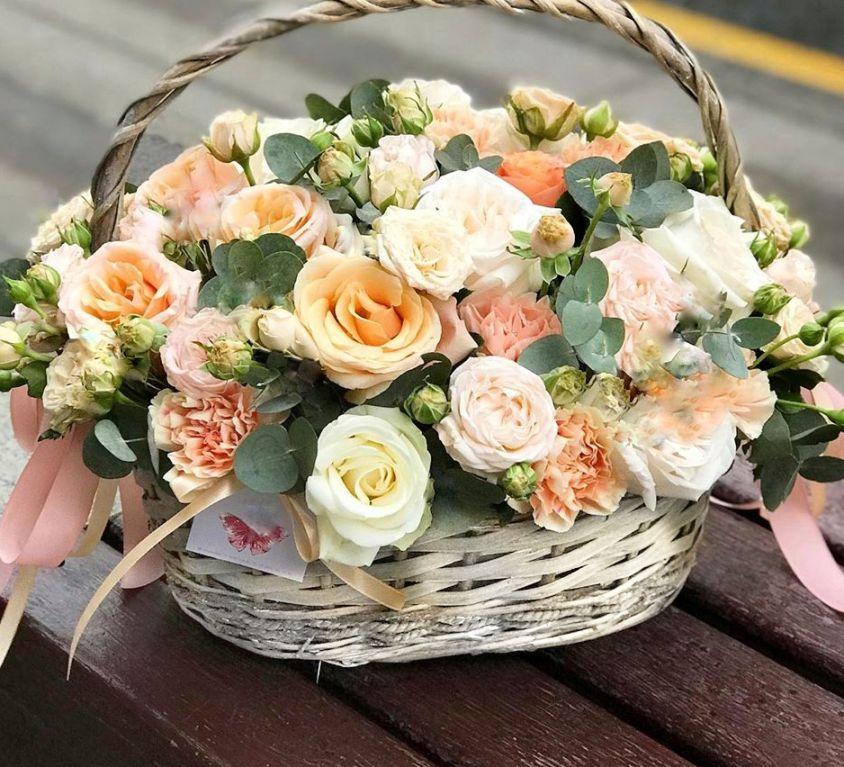 Корзина с цветами 477