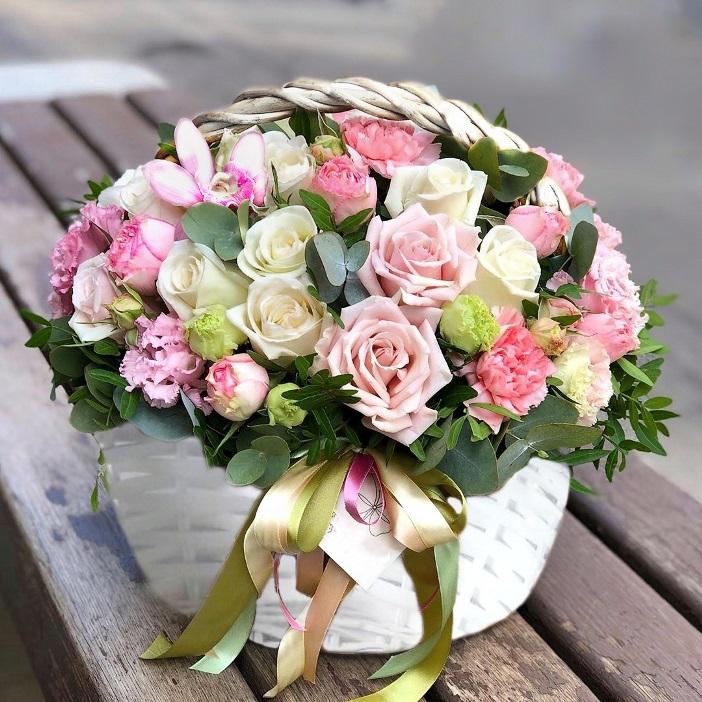 Корзина с цветами 470